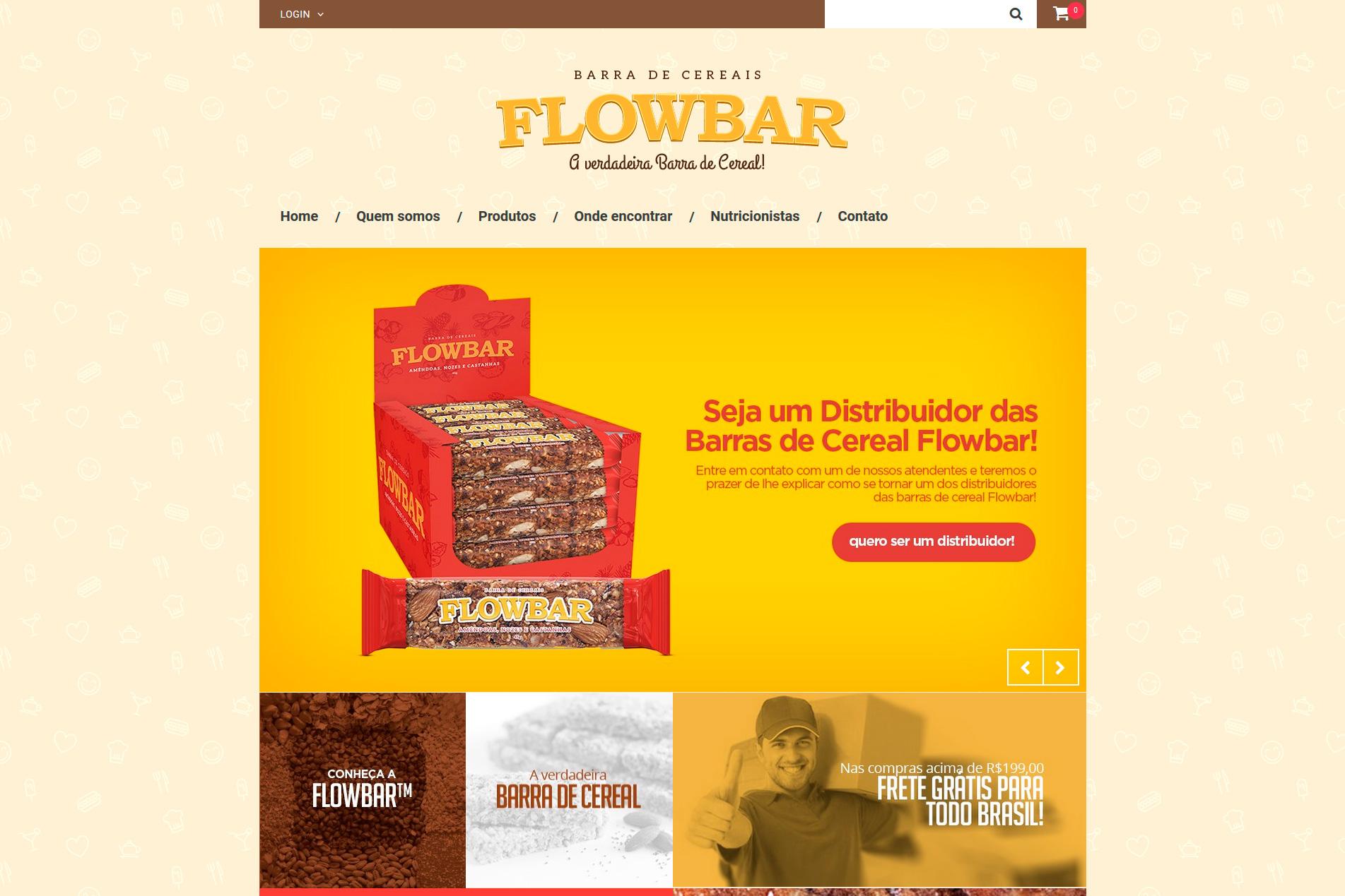 Loja Virtual - FLOWBAR