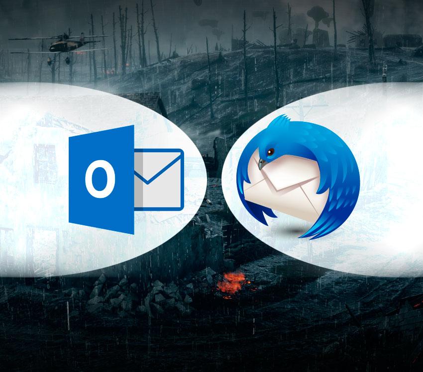 Nossa comparação entre o Microsoft Outlook e o Mozilla Thunderbird.