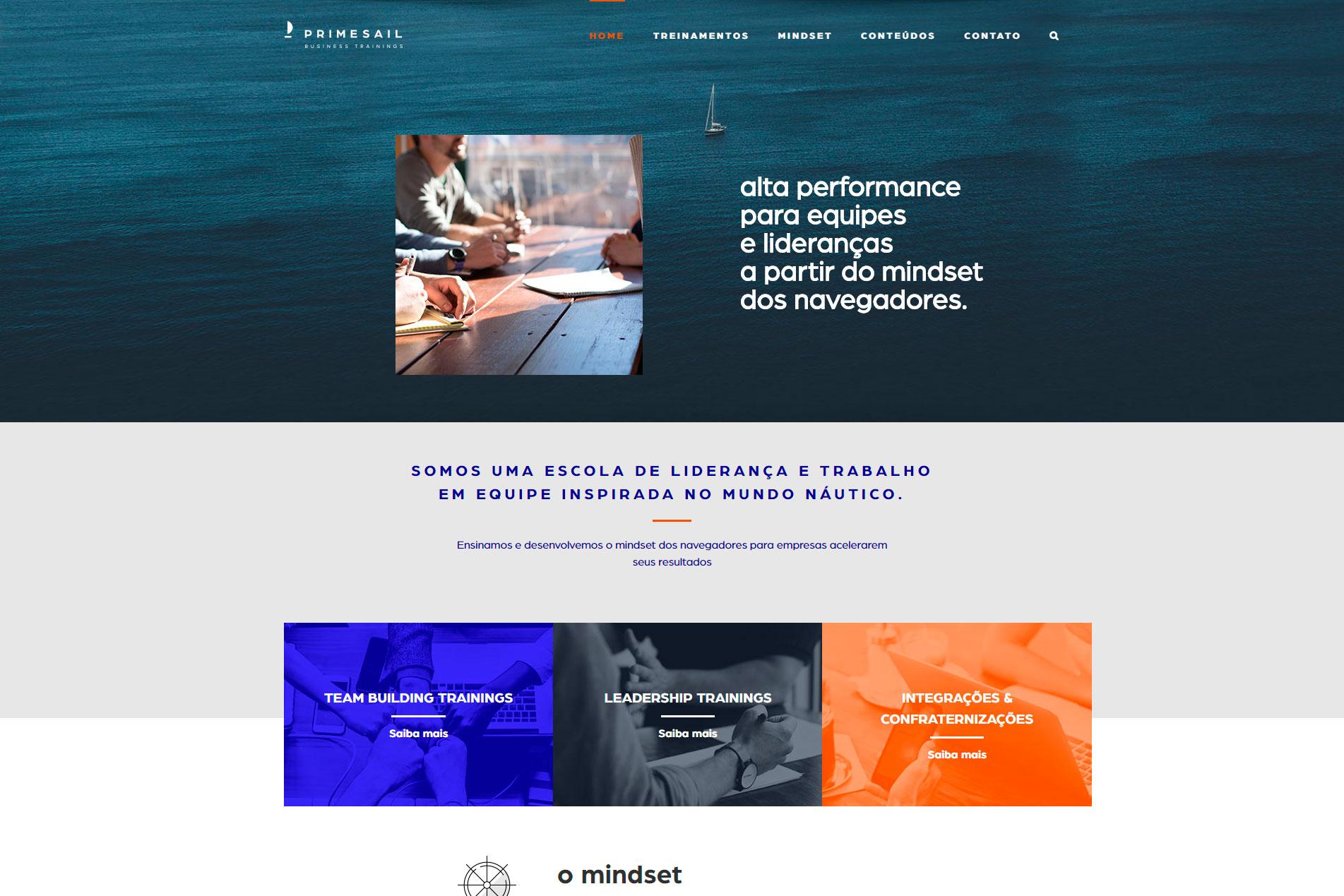 Desenvolvimento de Site - PRIMESAIL